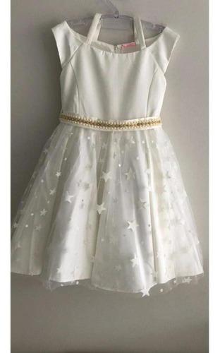 vestido festa branco bambollina