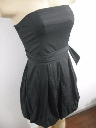 vestido festa curto preto tqc com faixa tam p bom estado