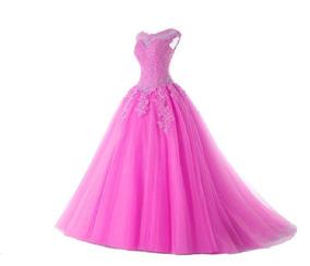 0b9e098399 Vestido Infantil Festa Rosa Chiclete Princesa Pronta Entrega ...