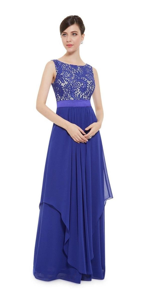 4e6071d7d5 vestido festa decoteu renda longo azul marinho marsala ate54. Carregando  zoom.