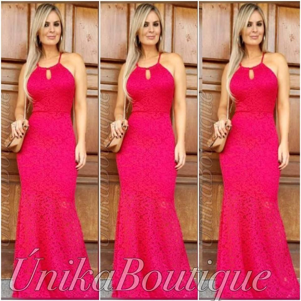 da49b1d0d vestido festa formanda madrinha rosa pink renda frete gratis. Carregando  zoom.
