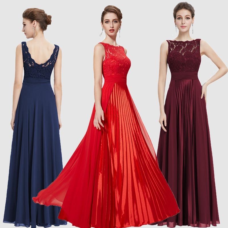 8b515c7bb Vestido Festa Importado Ever Pretty =m=99-101 Cm Busto - R$ 429,00 ...