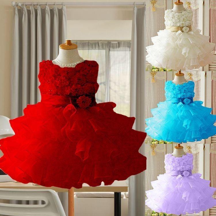 f25440b55 Vestido Festa Infantil Babado Daminha Casamento Aniversario - R$ 139 ...