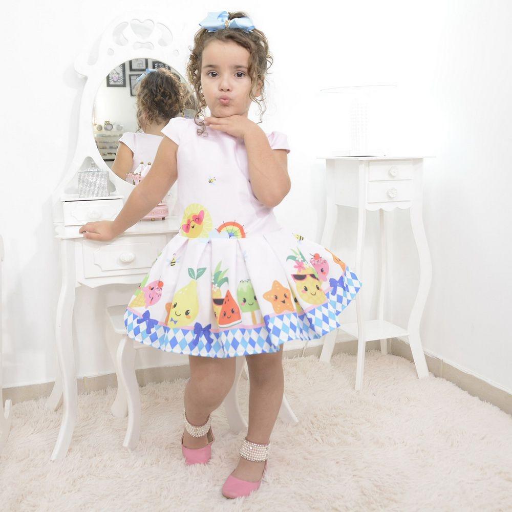 32c95b12a vestido festa infantil das frutas, abelhinhas e sorvetes. Carregando zoom.