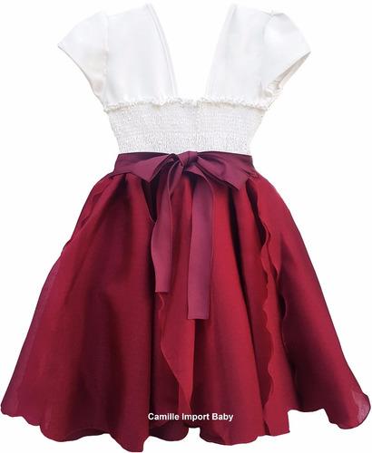 vestido festa infantil floral dama jardim encantado e tiara