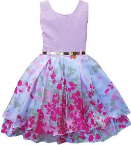 bb9327b5212f Vestido Infantil Em Malha Lilas no Mercado Livre Brasil