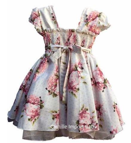 12f15d8aebd Vestido Festa Infantil Floral Luxo 1 A 16 Anos Com Tiara - R  110