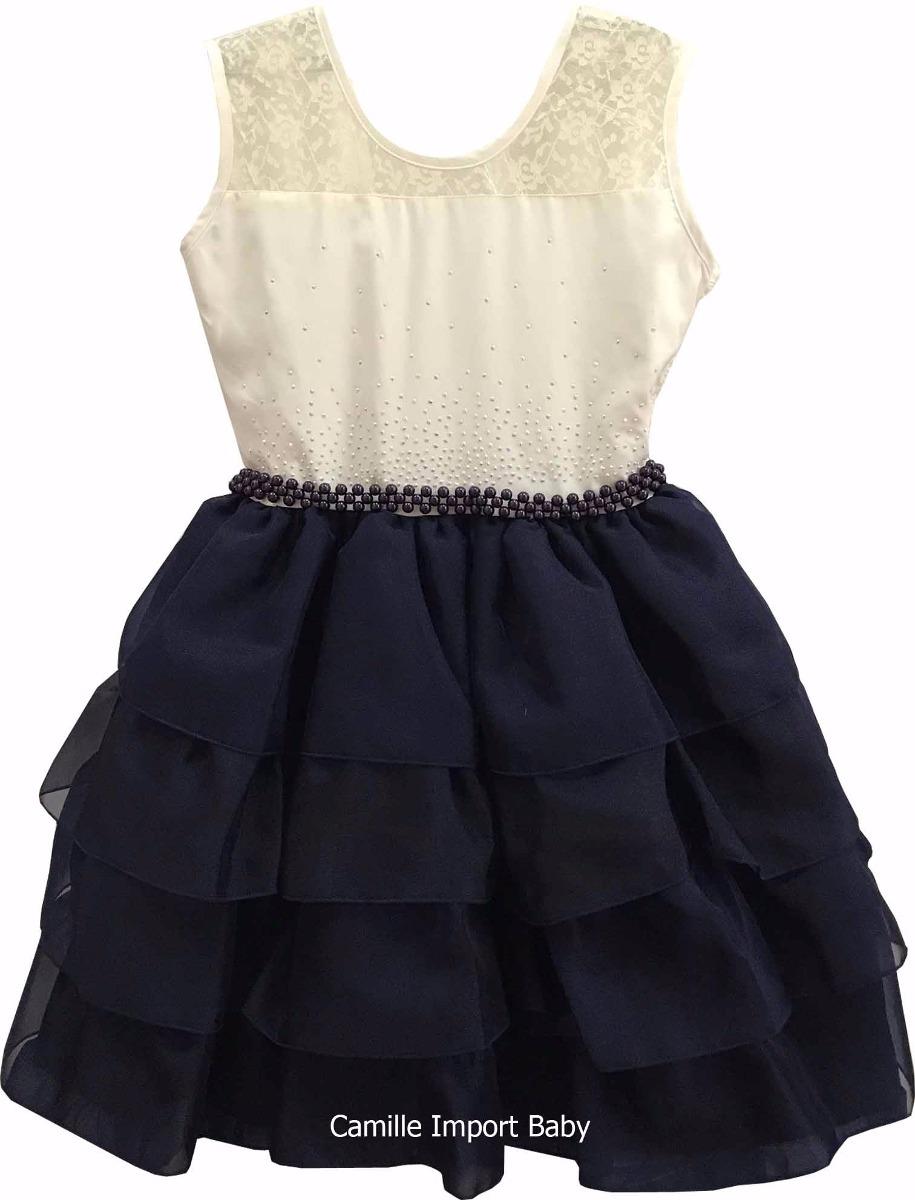 Vestido Festa Infantil Floral Luxo 4 A 16 Anos Com Tiara - R  110 2c45c0ec671