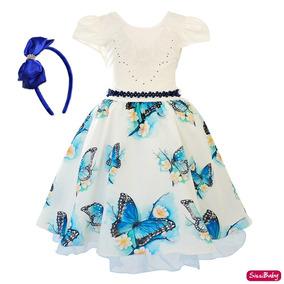 c67be98f71 Vestido Infantil Festa Azul Marinho - Vestidos Meninas De Festa no ...
