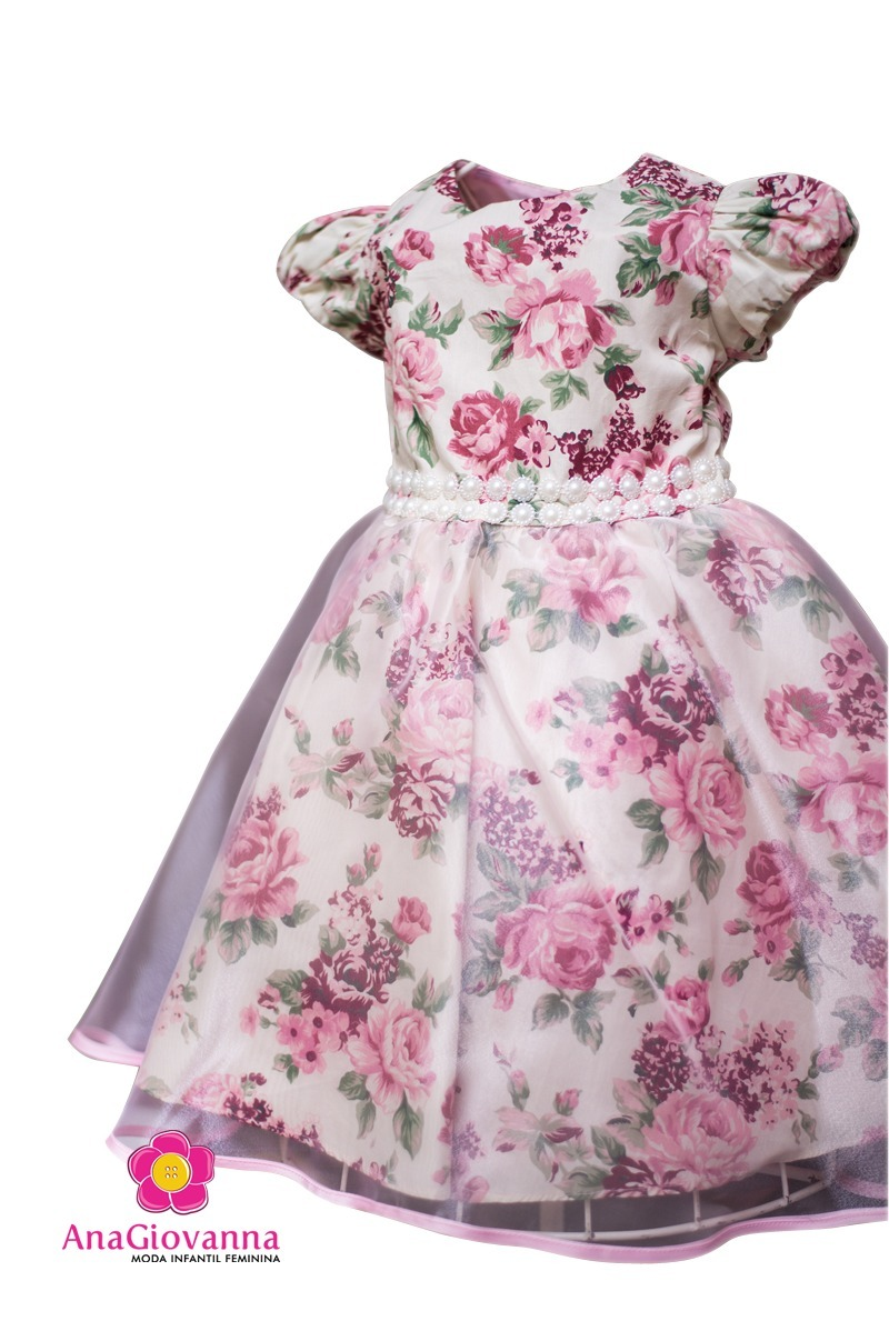 76357f503b2 Vestido Festa Infantil Floral Luxo Jardim Encantado - R$ 169,90 em ...