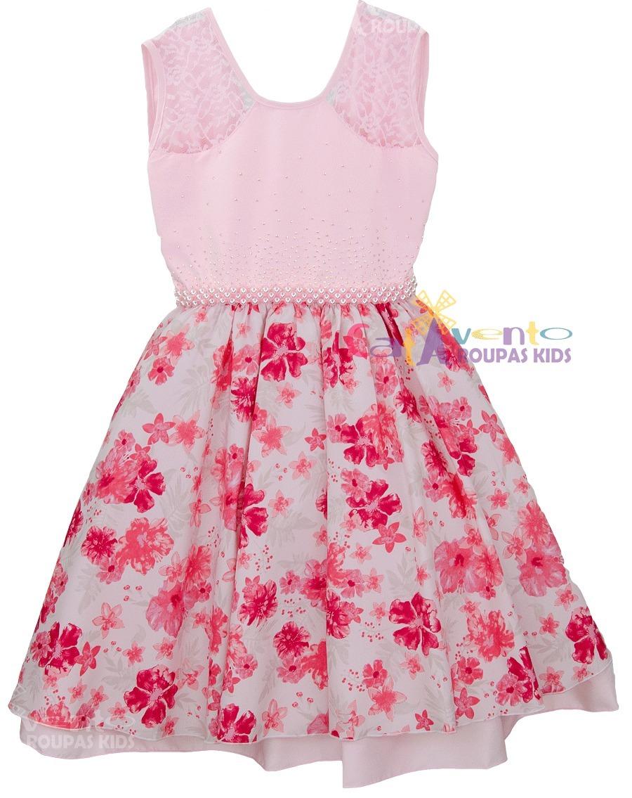 dfdef4e28 vestido festa infantil floral princesa mega promoção. Carregando zoom.