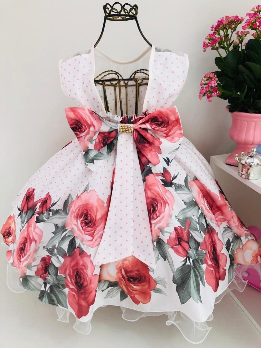b2c3318601f vestido festa infantil floral rosa jardim encantado e tiara. Carregando  zoom.