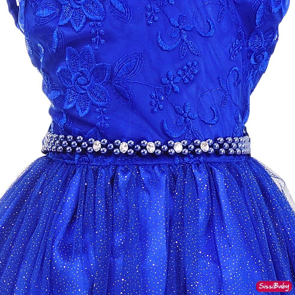 Vestidos para formatura infantil azul