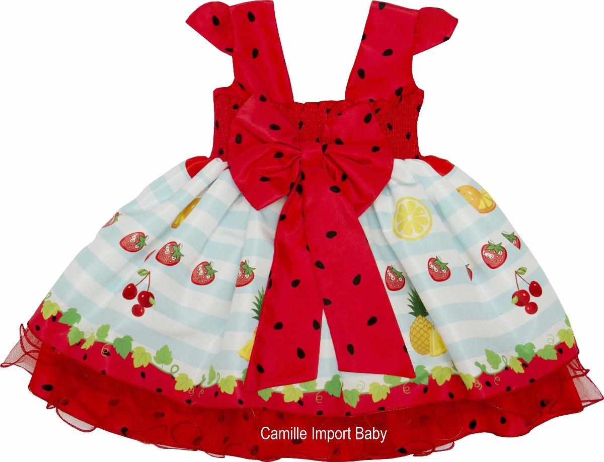 465ac1174 vestido festa infantil magali melancia frutas e faixa tiara. Carregando  zoom.