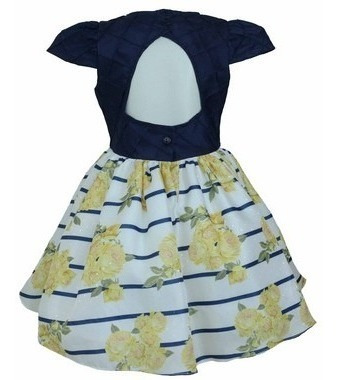 vestido festa infantil menina floral princesa entrega full