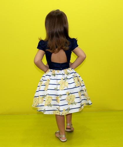 vestido festa infantil menina floral princesa frete grátis