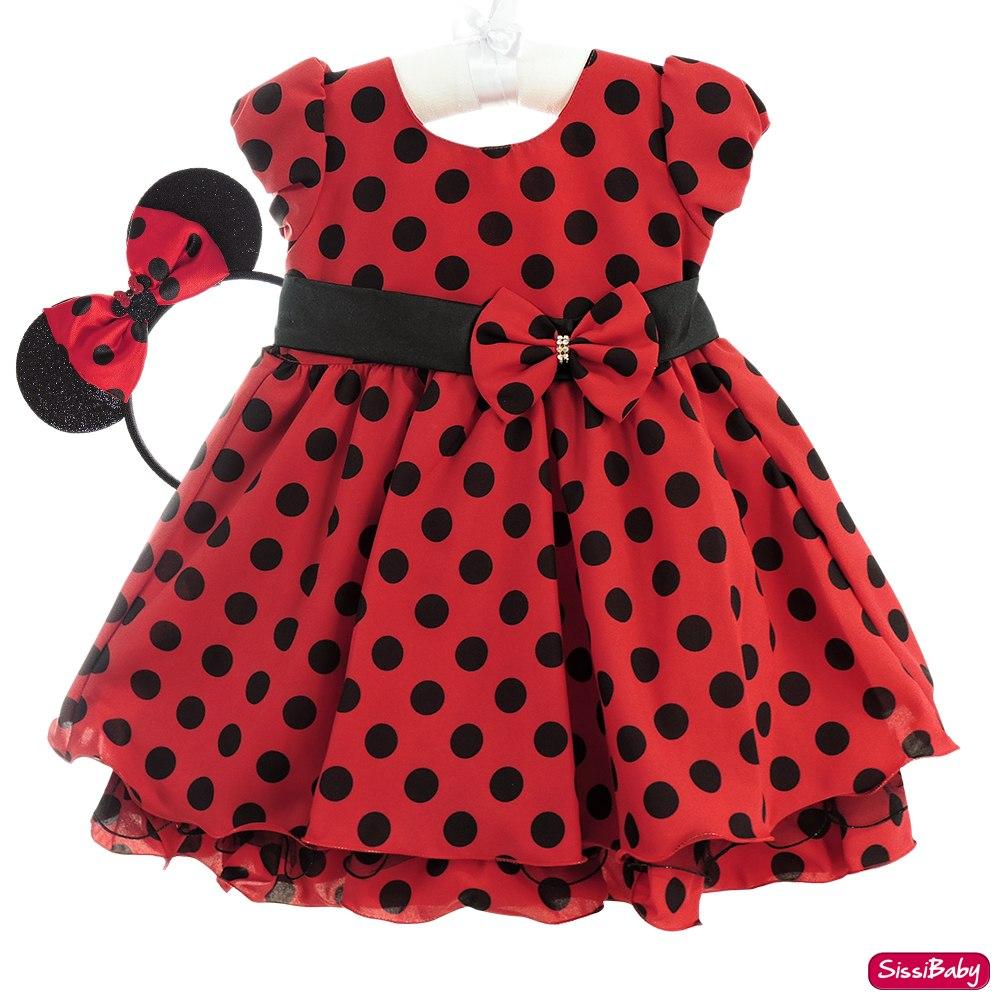 a630c2f5ebe vestido festa infantil minnie luxo bolinhas pretas e tiara. Carregando zoom.