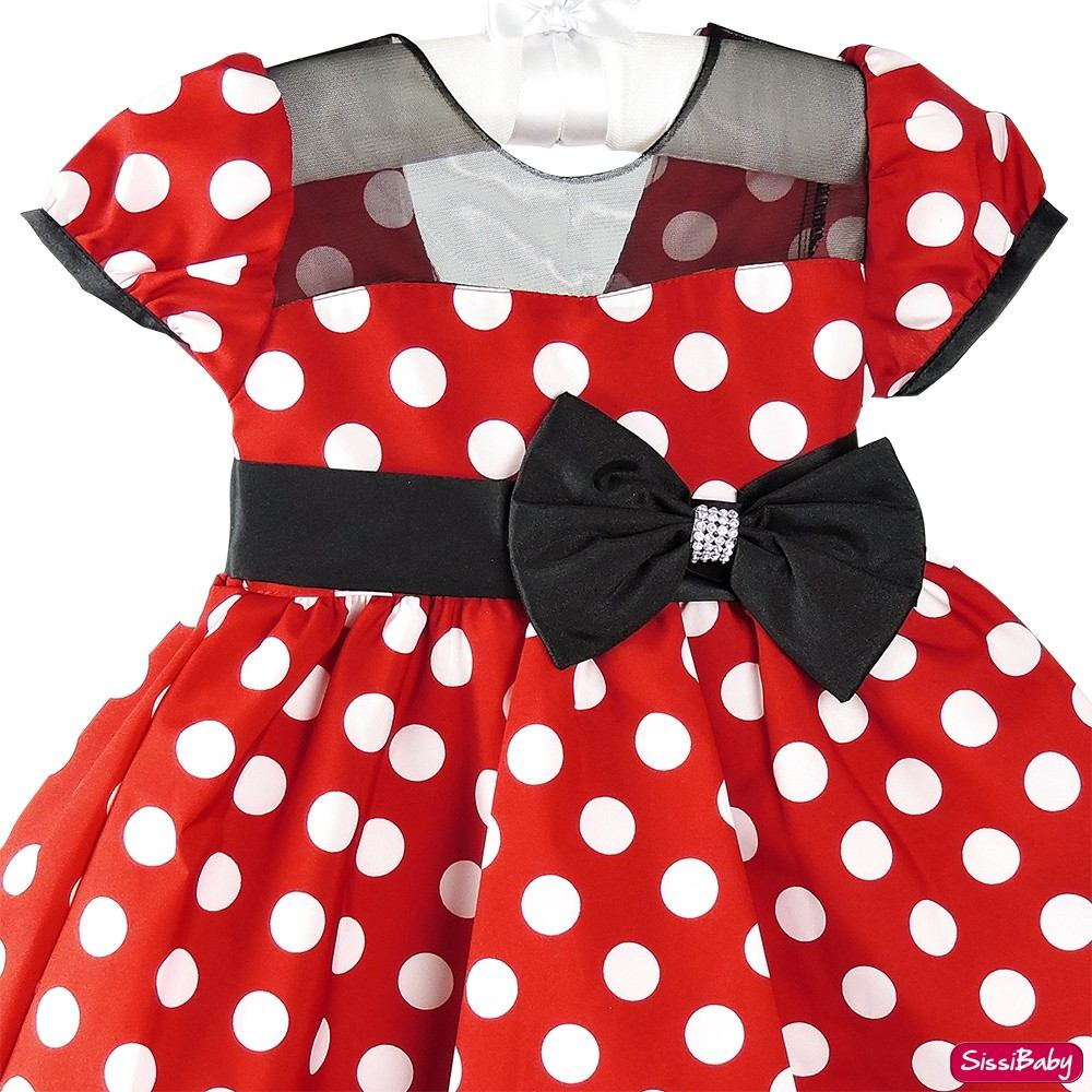 10855aded71 vestido festa infantil minnie vermelha bolinhas e tiara. Carregando zoom.