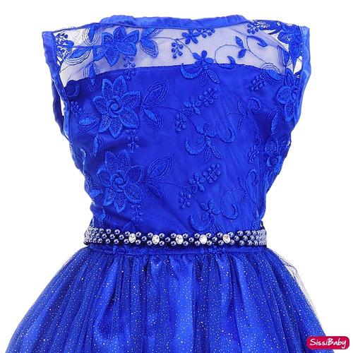 vestido festa infantil princesa formatura daminha com luvas
