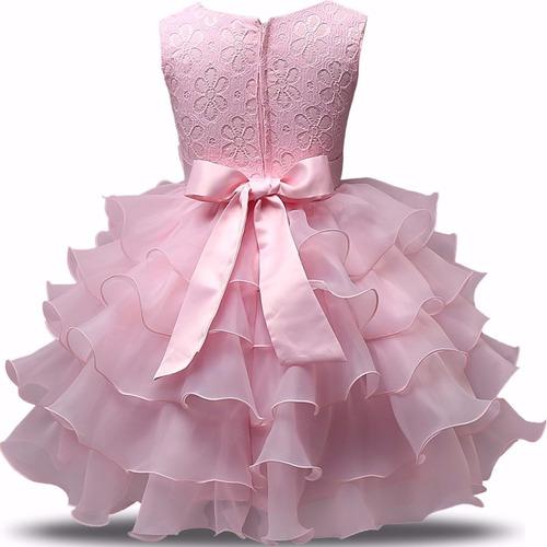 vestido festa infantil renda babado casamento daminha dama