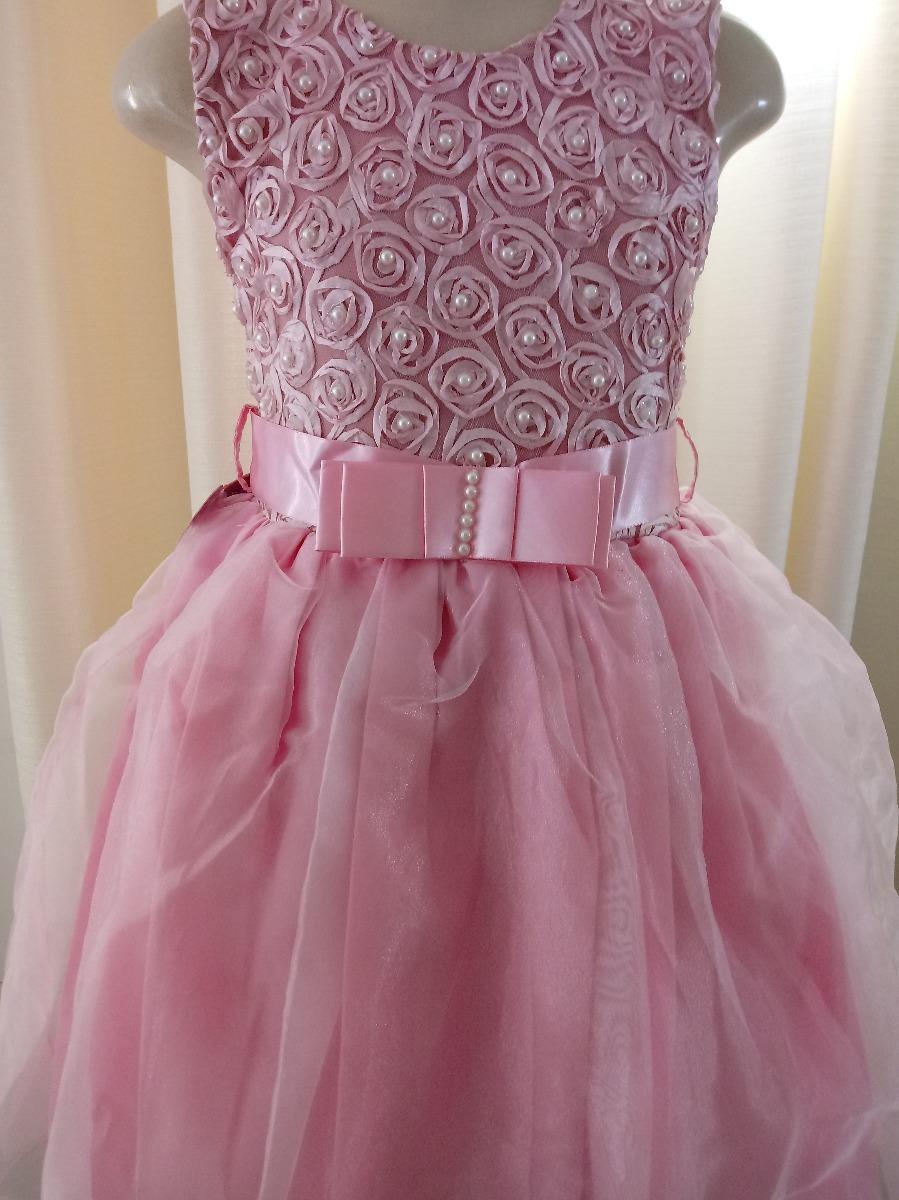 d7177a28a5 vestido festa infantil rosa bailarina batizado 4 e 6 anos. Carregando zoom.