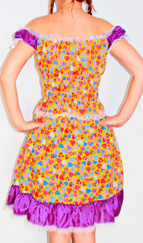 vestido festa junina adulto fantasia quadrilha