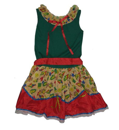 vestido festa junina caipira quadrilha infantil menina