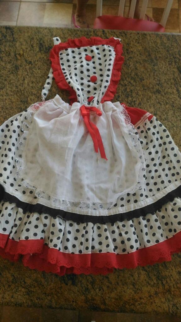 vestido festa junina estilo avental. Carregando zoom. 1bb7b5a0c0f