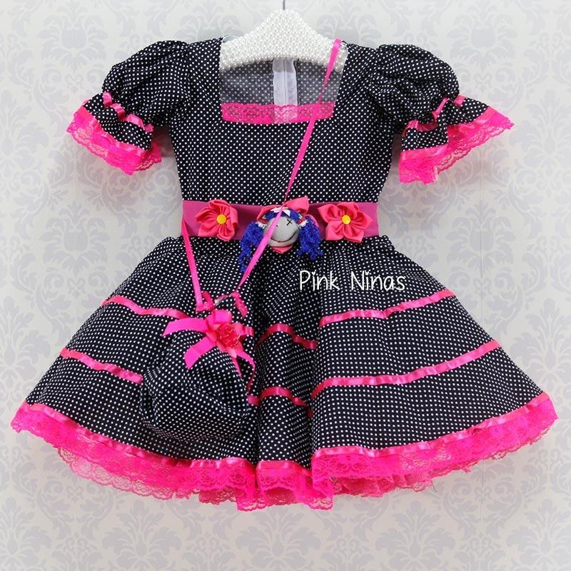 29e3e1816 Vestido Festa Junina Infantil Menina Caipira Chic Mil001017 R