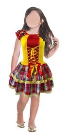 7193828aaa3a Vestido De Festa Junina Moderno Infantil no Mercado Livre Brasil