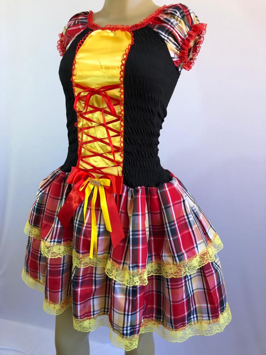 Vestido moderno de quadrilha