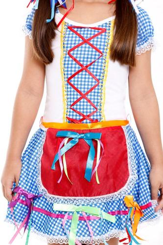 vestido festa junina,caipira,junino,adulto infantil,2vestido
