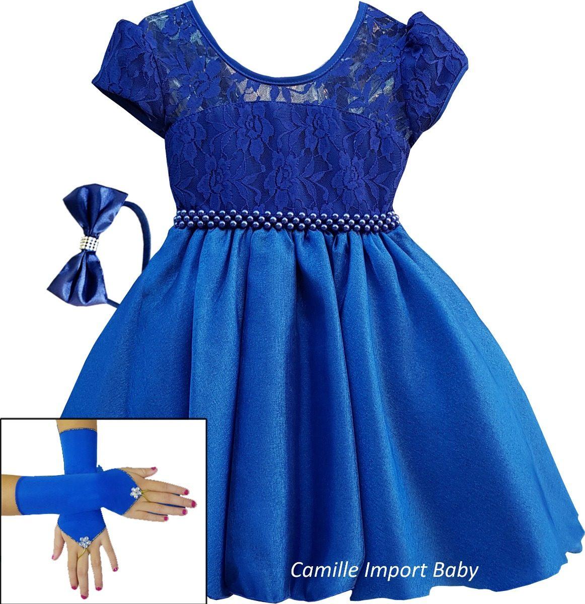 Vestido de festa azul royal mercado livre