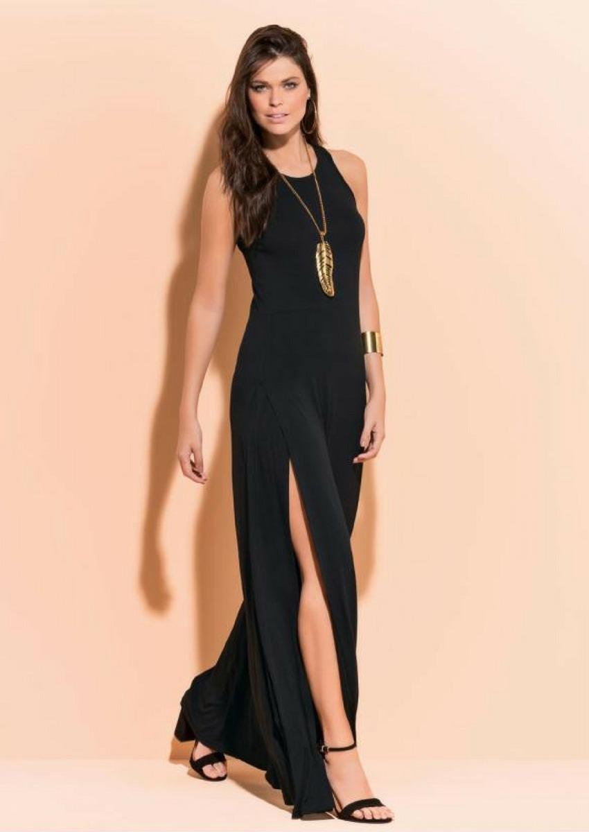 db9ae7112 ... moda evangélica plus size longo preto lindo. Carregando zoom... vestido  festa longo. Carregando zoom.