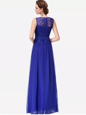 2bc9c62df Vestido De Festa Longo Barato Casamento Azul Royal - R$ 100,00 em ...