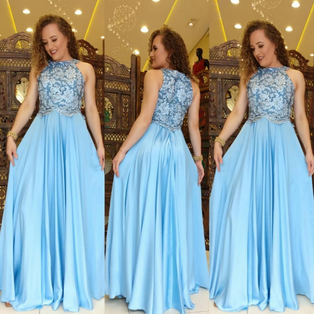 da4bfd7aaa vestido festa longo azul serenity madrinha casamento civil. Carregando zoom.