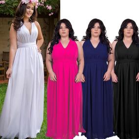 b205448b4c Vestido Longo Estampado Barato Liso - Vestidos Longos Femininas no Mercado  Livre Brasil