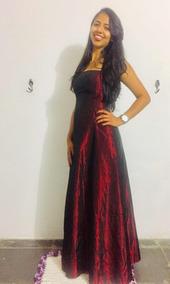 711eac2c5 Vestido De Festa Marsala - Vestidos Longos Femininas, Usado no ...