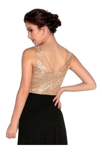 vestido festa longo renda dourado c/ preto marinho marsala
