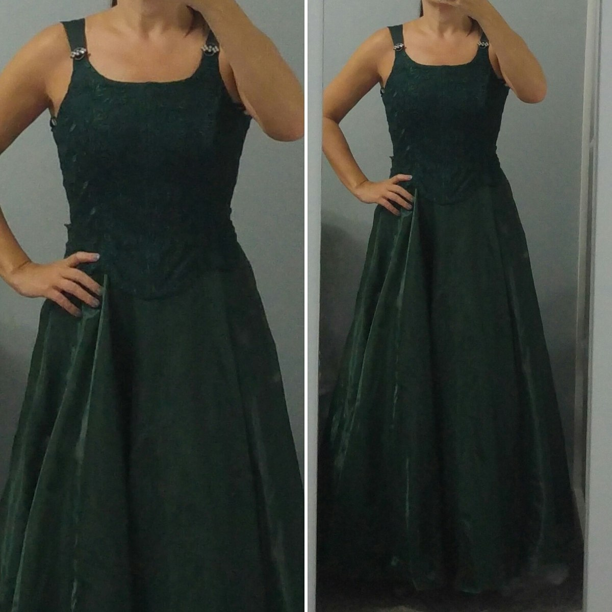 Vestido de festa verde mercado livre