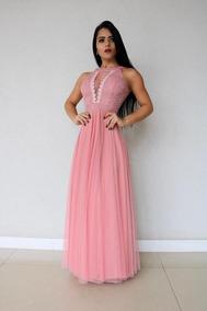 c7c0527e1ace Vestido Longo Festa Madrinha Casamento Formatura 44 - Vestidos Femeninos  Longo com o Melhores Preços no Mercado Livre Brasil