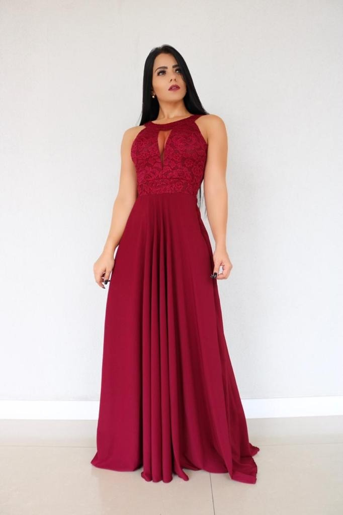 4098f4a173 Vestido Festa Madrinha Casamento Saia Soltinha Até Plus Size - R ...