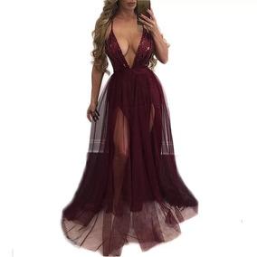 d2e9ab1ea Vestido Sexy Black Profundo Decote V Frete Grátis - Vestidos Longos  Femininas no Mercado Livre Brasil
