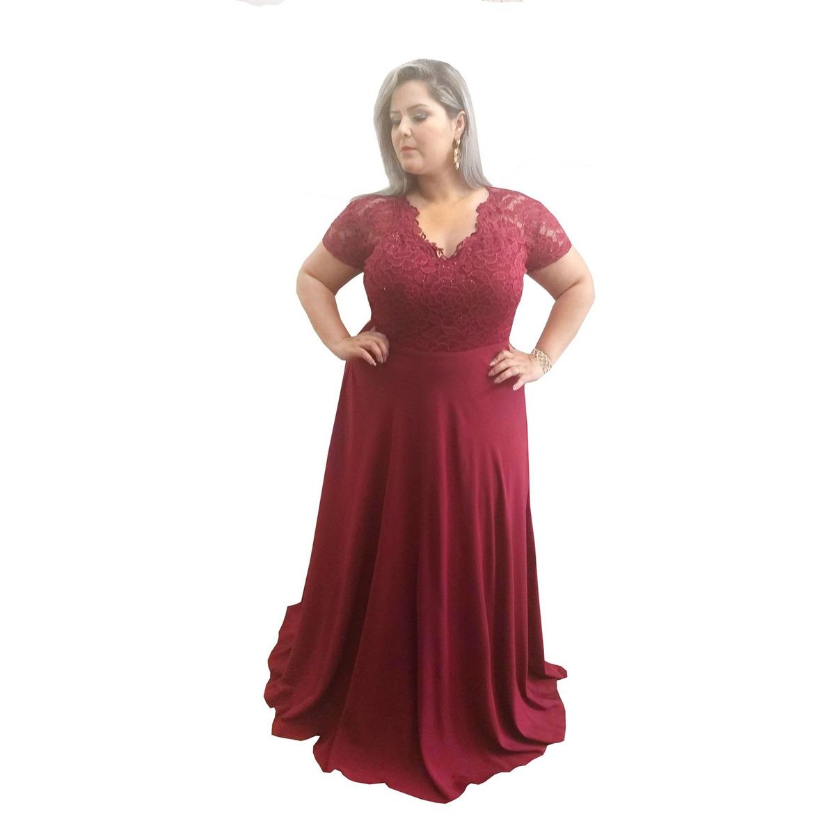 a1dfab87759f vestido festa marsala plus size madrinha casamento lindo. Carregando zoom.