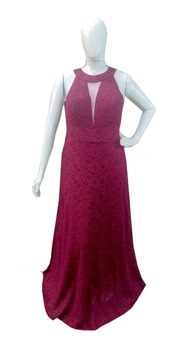701dd0fae933 vestido festa marsala plus size renda casamento madrinha. Carregando zoom.