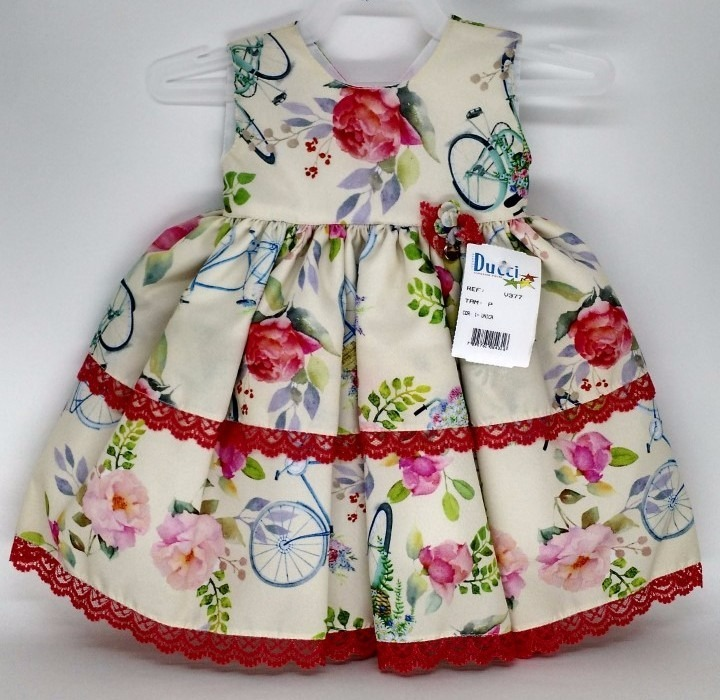 ddd197f8ac Vestido Infantil De Festa Tamanho P Menina 1 Ano Rodado Luxo - R ...
