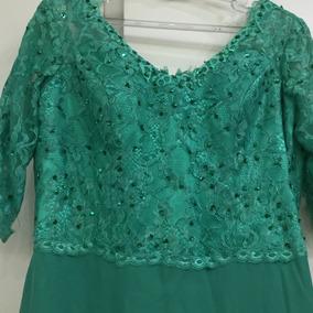Vestido verde folha seca