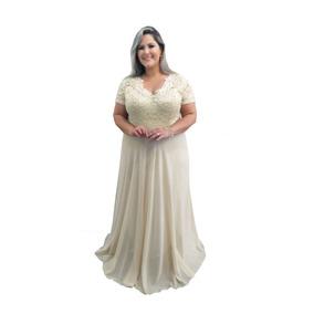 586a074156 Vestido De Madrinha De Casamento Dourado Plus Size - Vestidos Longos  Femininas no Mercado Livre Brasil