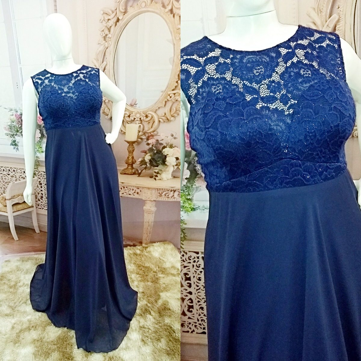 Vestidos para madrinha plus size azul royal
