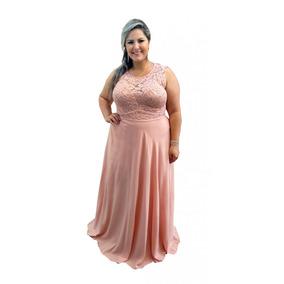 8162cfa26 Vestido Rosa Madrinha Casamento Plus Size - Vestidos com o Melhores Preços  no Mercado Livre Brasil
